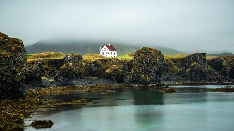 Arnarstapi fishing village in snæfellsnes peninsula