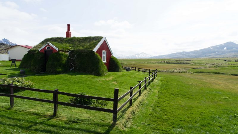 turf house in Borgarfjörður Eystri in East Iceland