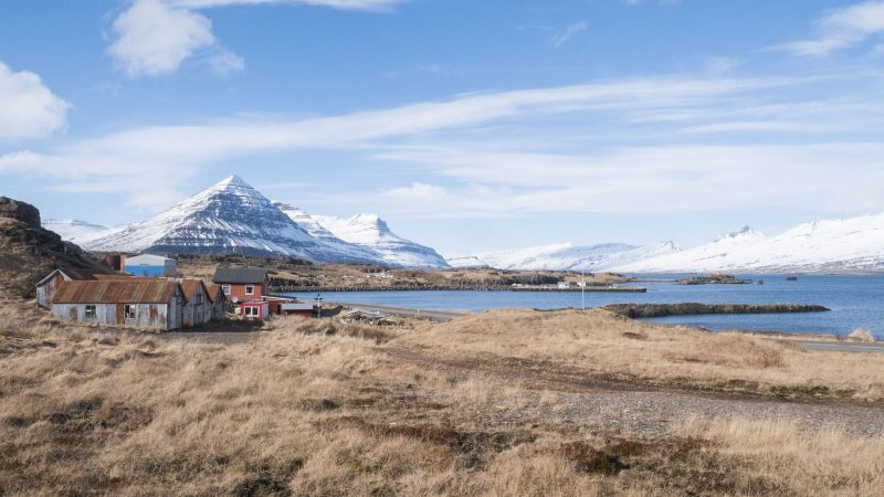 Djupivogur fishing village in east Iceland