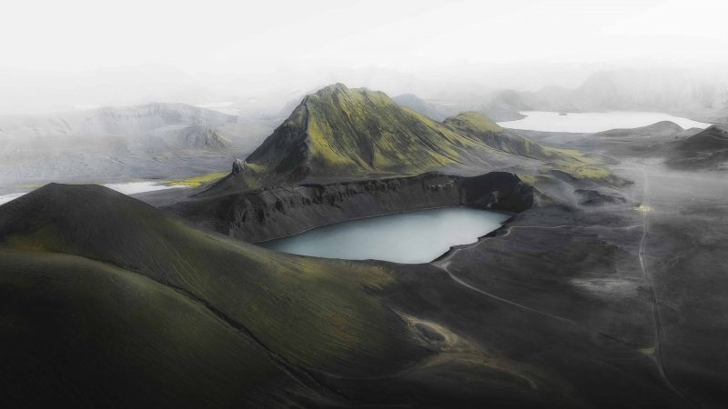 Drone flying in Iceland, Highlands