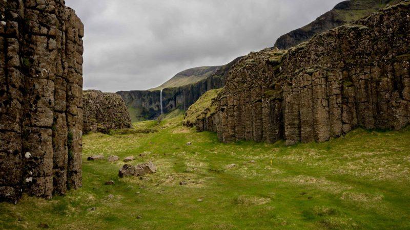 Dverghamrar dwarf cliffs in south Iceland