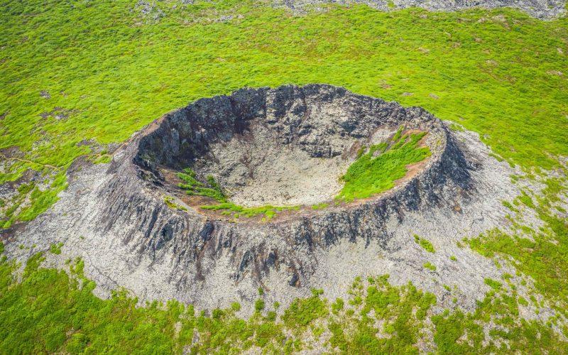 Eldborg Crater in Snæfellsnes Peninsula