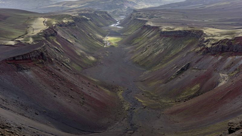 Eldgjá Crater in the highlands of Iceland
