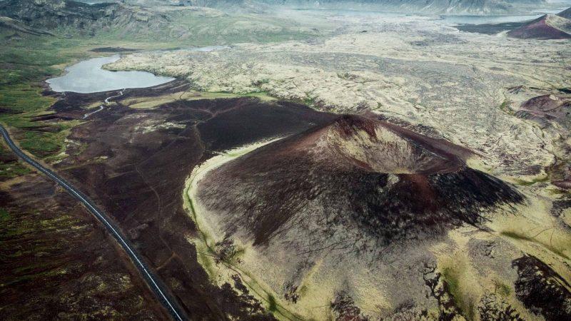Eldgjá Crater in the highlands of Iceland