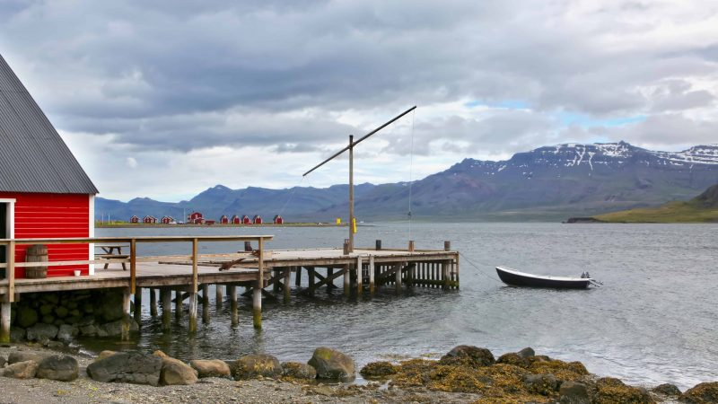 Eskifjörður village in the Eastfjords of Iceland