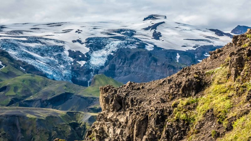 Eyjafjallajokull volcano and mountain in Iceland