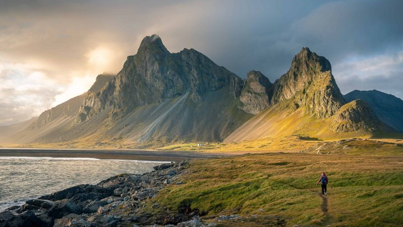 Eystrahorn mountain in East Iceland