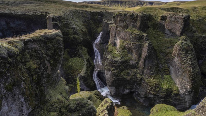 Fjaðrárgljúfur canyon in south Iceland