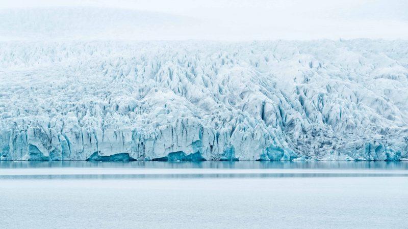 Fjallsárlón glacier lagoon in south Iceland