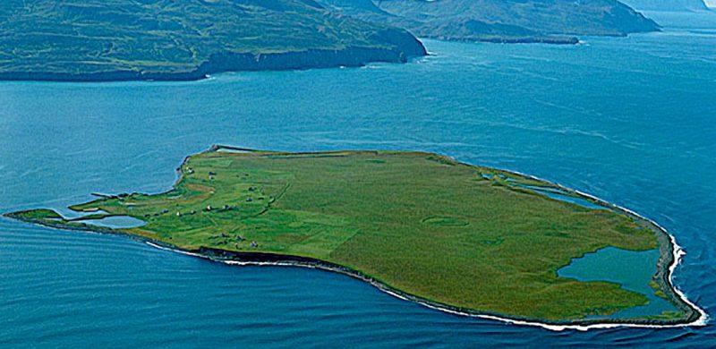 Flatey Island in north Iceland