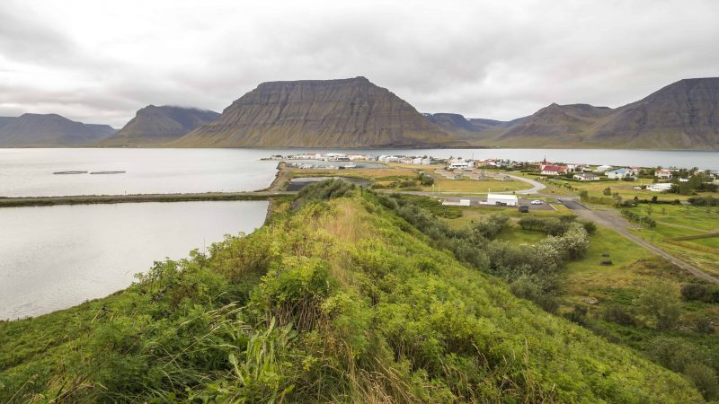 Flateyri fishing village in the Westfjords of Iceland