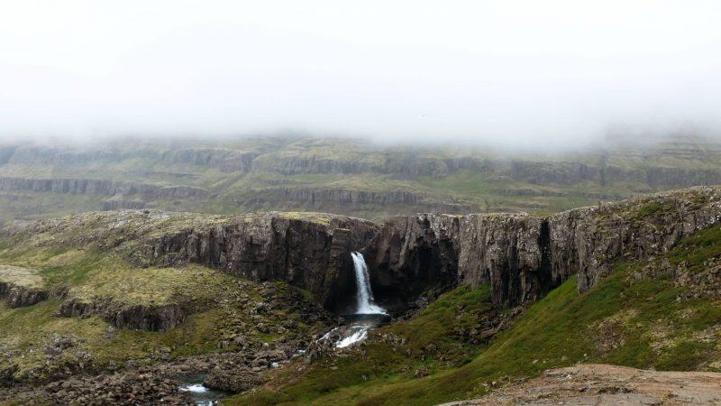 Folaldafoss waterfall in Öxi Djúpivogur village in East Iceland