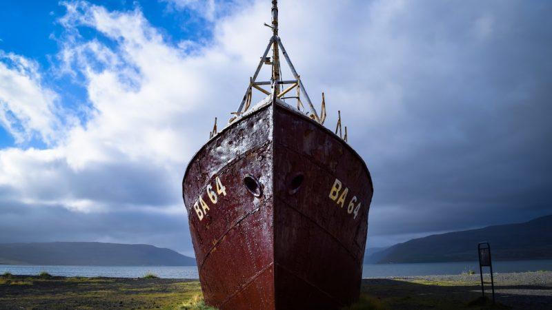 Garðar BA shipwreck in the Westfjords of Iceland