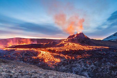 Geldingadalur erupting volcano in Iceland