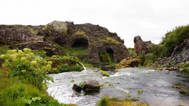 Gjain in thjorsardalur golden circle in Iceland