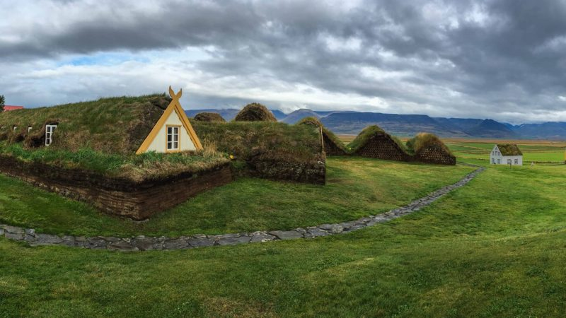 Glaumbær turf houses in north Iceland