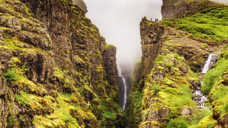 Glymur highest waterfall in Iceland