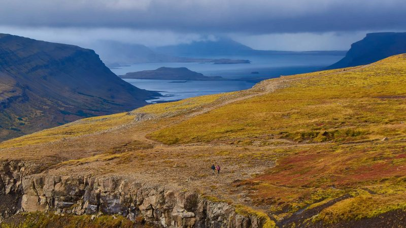 View over Hvalfjörður from Glymur highest waterfall in Iceland