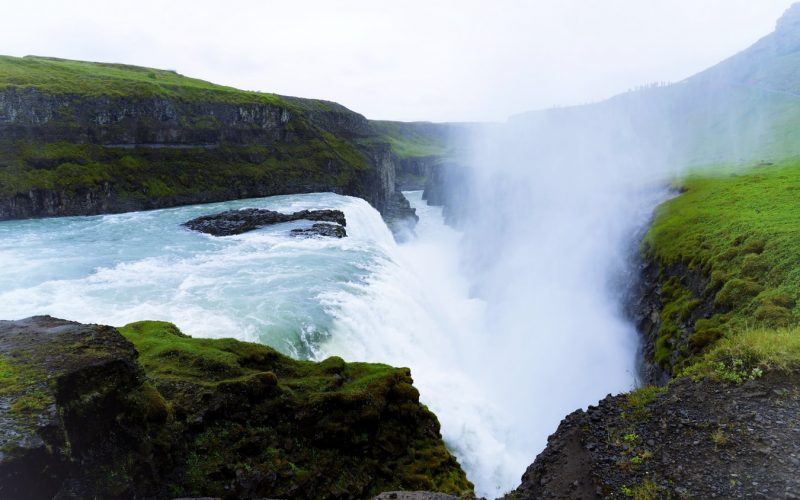 Gullfoss waterfal in Golden Circle