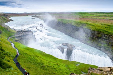 Gullfoss waterfall in Golden Circle Iceland