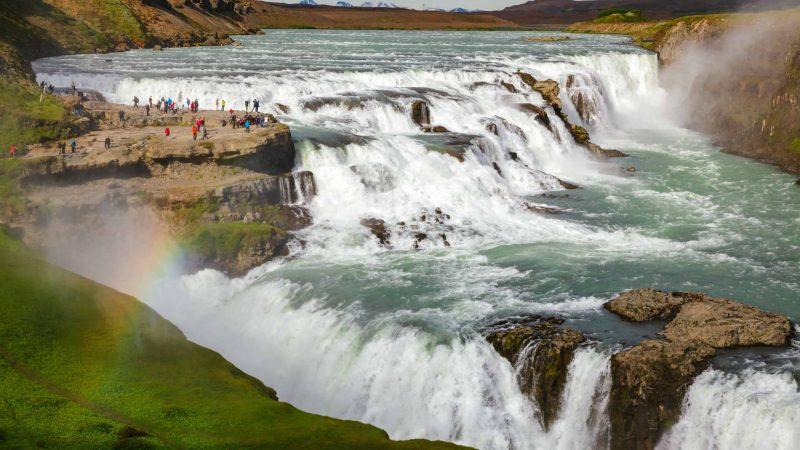 Gullfoss waterfall in Golden Circle Iceland