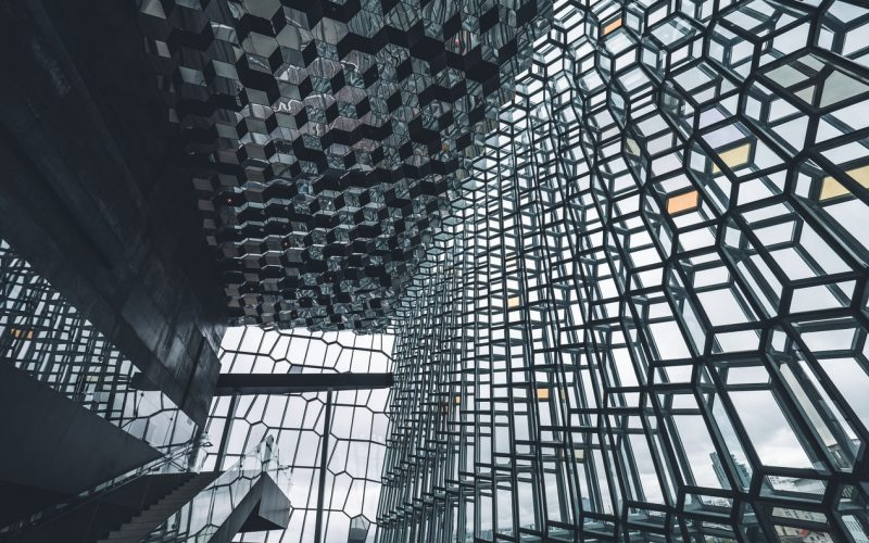 Harpa concert hall in downtown Reykjavik
