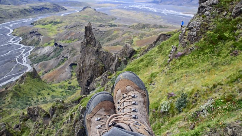 Hiking in Þórsmörk, hiking boots in Þórsmörk Iceland