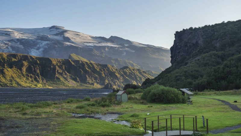 camping in Þórsmörk in the highlands of Iceland