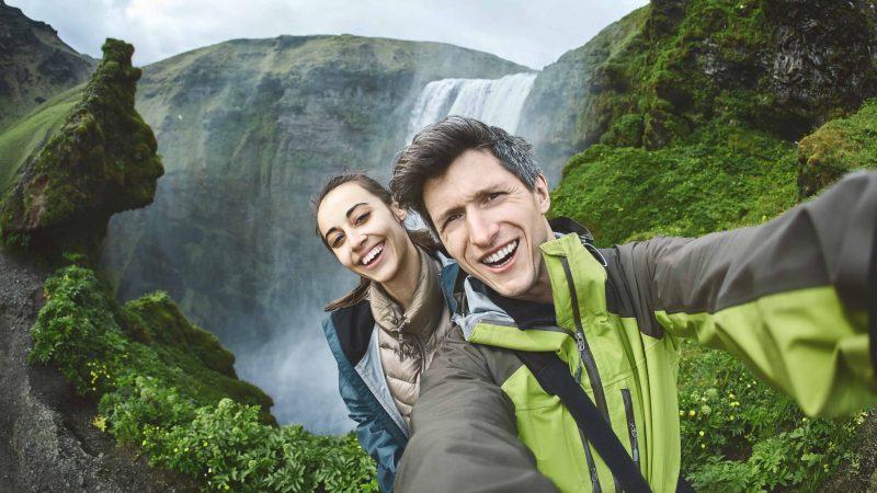 Honeymoon in Iceland, Skógafoss waterfall
