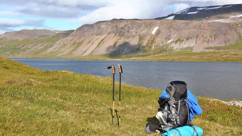 Hiking in Hornstrandir Nature Reserven in the Westfjords of Iceland