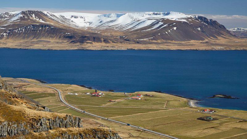 Hvalfjörður fjord in west Iceland