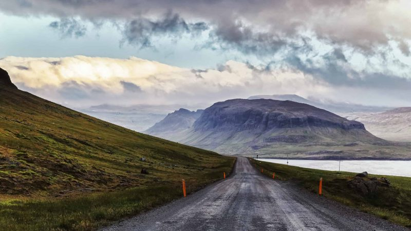 highland roads to Hveravellir geothermal area in the highlands of Iceland