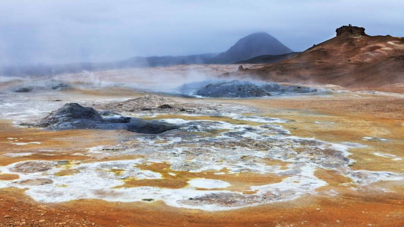 Hveravellir geothermal area in the highlands of Iceland