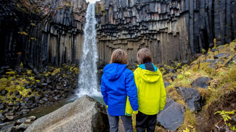 Iceland Family Travel, travel to Iceland with kids, Svartifoss waterfall