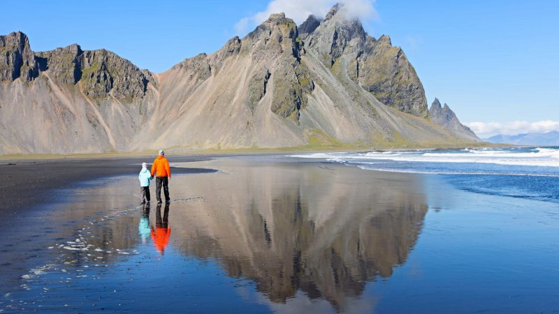 Iceland Family Travel at Stokksnes beach