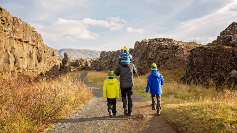 Iceland Family Travel in Thingvellir National Park