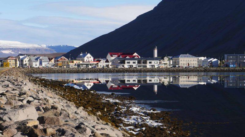 Ísafjörður village in westfjords of Iceland