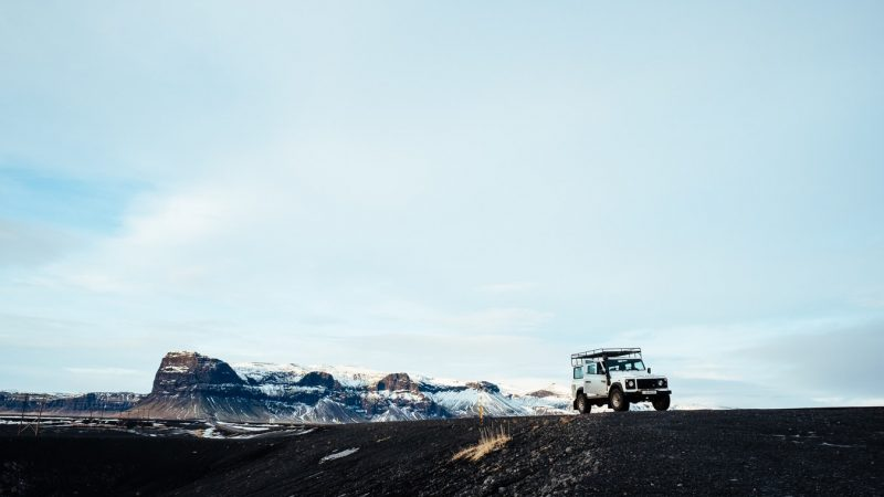 jeep driving with views in Iceland