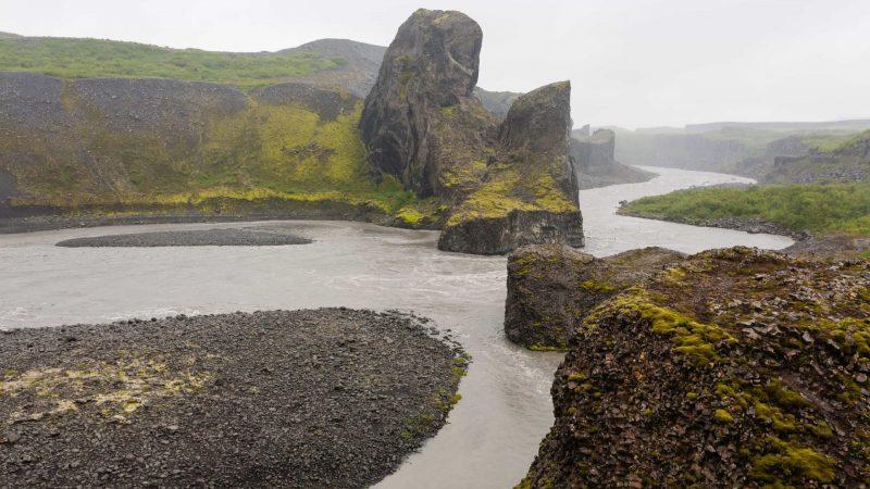 Jökulsárgljúfur canyon in north Iceland
