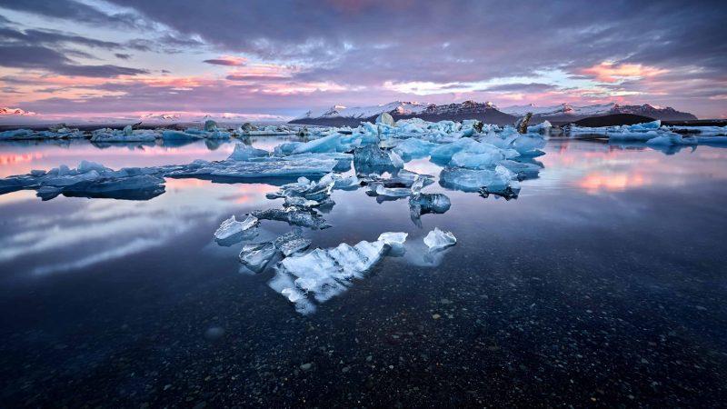 Jokulsarlon glacier lagoon in south Iceland - south Iceland