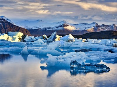 Jokulsarlon glacier lagoon in south Iceland - south Iceland