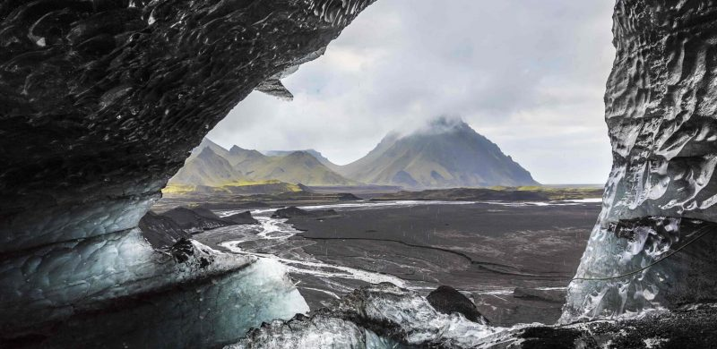 Katla Ice Cave under the volcano glacier