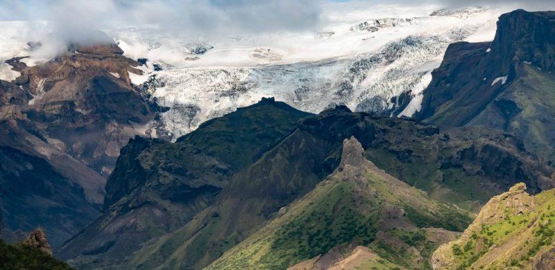 Katla Volcano and glacier