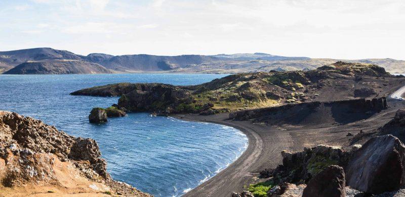 Kleifarvatn Lake in Reykjanes Peninsula Iceland