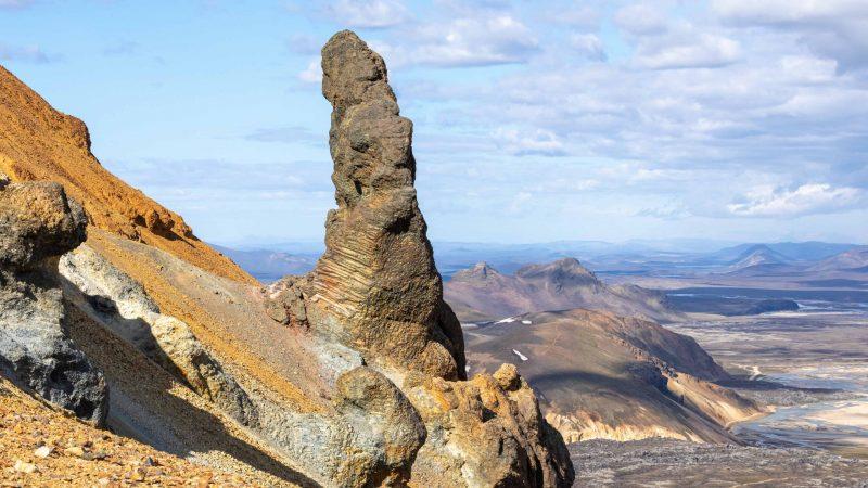 trolls cliff in Landmannalaugar Iceland