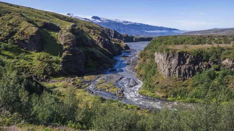 Markafljótsgljúfur canyon in Iceland
