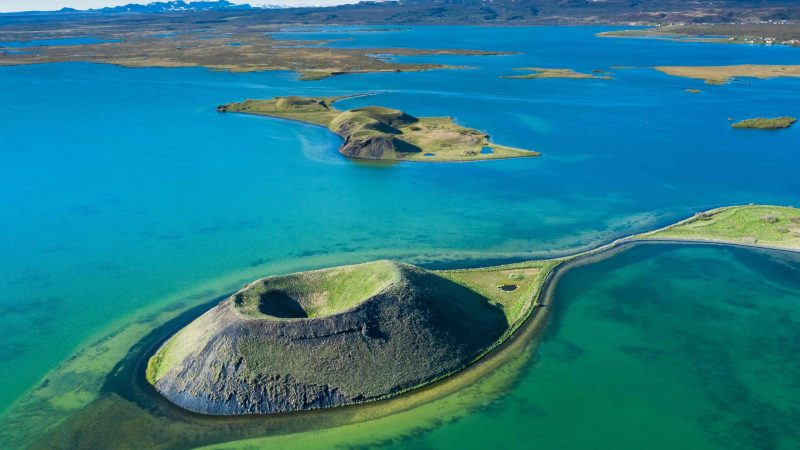 Skutustadagigar in Lake Myvatn North Iceland