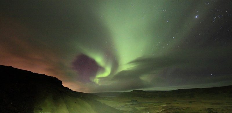 Northern Lights in Super Jeep