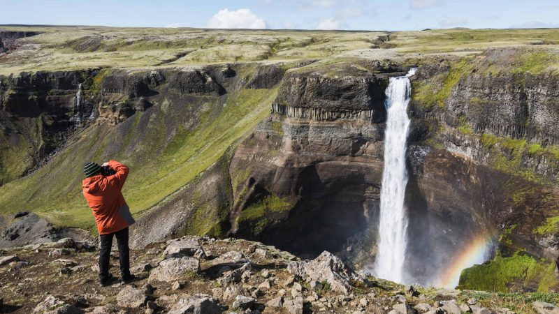 Photography in Iceland - Háifoss waterfall