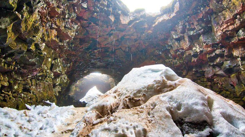 Raufarhólshellir lava cave in Iceland